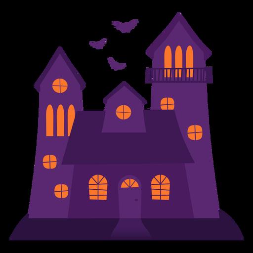 Ilustración de la casa espeluznante de Halloween Transparent PNG