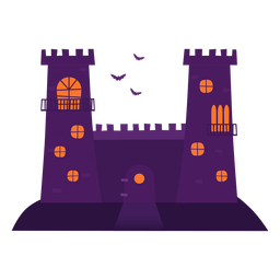 Haunted castle illustration