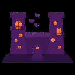 Ilustración de castillo embrujado
