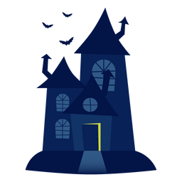 Ilustração de casa assombrada