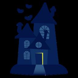 Ilustración de la casa encantada