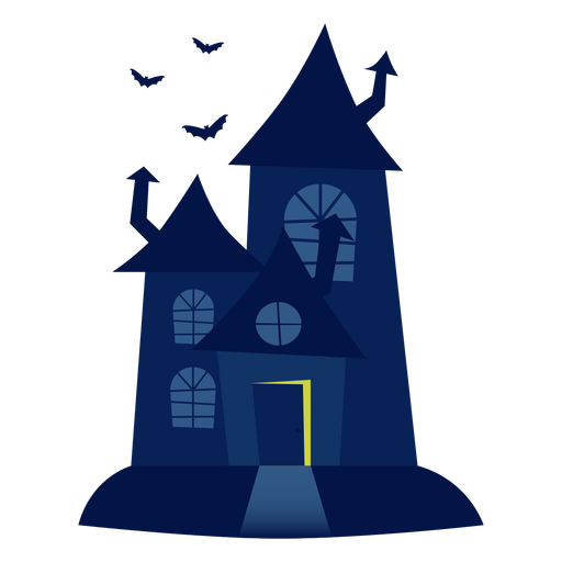 Haunted house illustration Transparent PNG