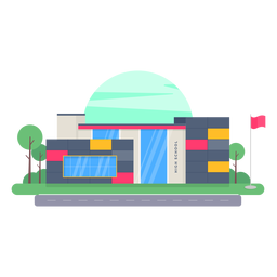 Diseño de edificio de la escuela secundaria