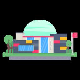 Projeto do edifício do ensino médio