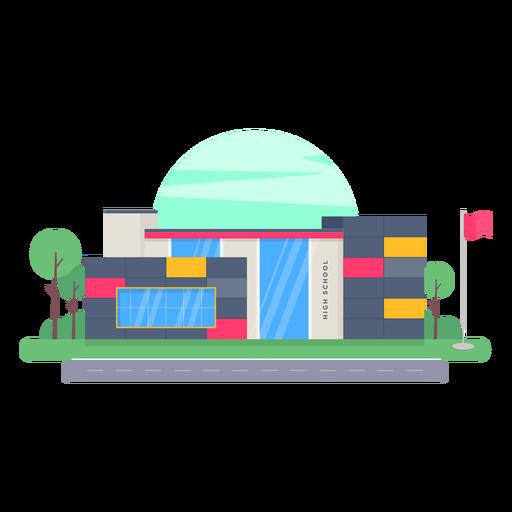 Diseño de edificio de la escuela secundaria Transparent PNG