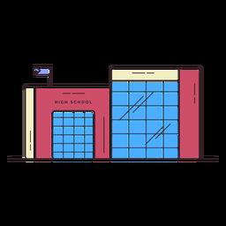 Ícone do edifício do ensino médio