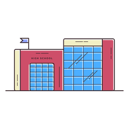Icono de edificio de la escuela secundaria