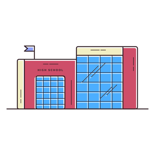 High school building icon Transparent PNG
