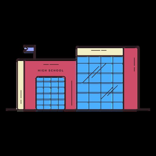Icono de edificio de la escuela secundaria Transparent PNG