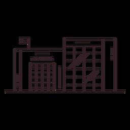 Icono de trazo de construcción de escuela secundaria