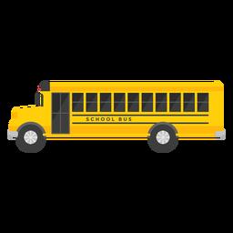 Ilustração de ônibus escolar longo