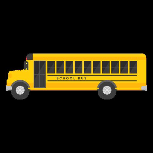 Ilustración de autobús escolar largo Transparent PNG