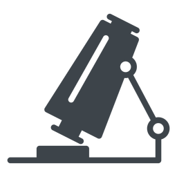 Microscope flat school icon