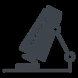 Microscopio plano icono de escuela