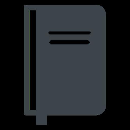 Icono de cuaderno plano escolar Transparent PNG