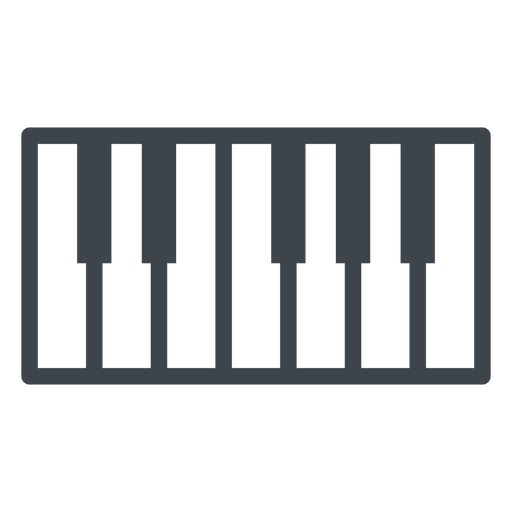 Piano keys flat school icon Transparent PNG