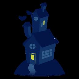 Ilustración de la casa de miedo