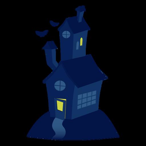 Ilustración de la casa de miedo Transparent PNG