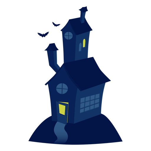 Scary house illustration Transparent PNG