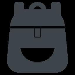 Icono plano de mochila escolar