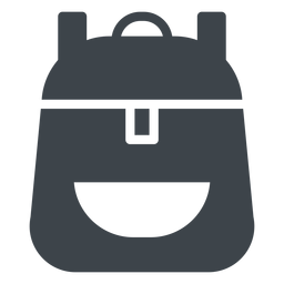 School backpack flat icon