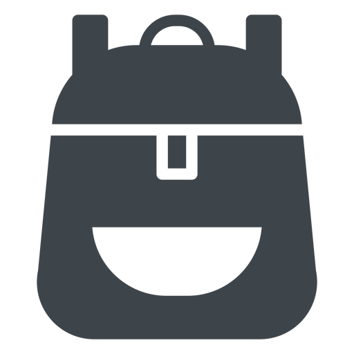 School backpack flat icon Transparent PNG