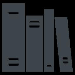 Ícone plana de livros escolares