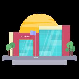 Ilustración de edificio escolar