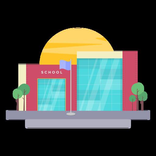 Ilustración de edificio escolar Transparent PNG