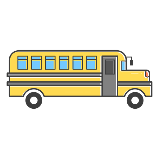 School bus colored stroke icon Transparent PNG