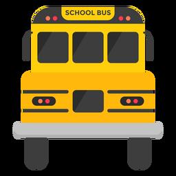 Ilustração de frente de ônibus escolar