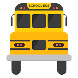 School bus front illustration