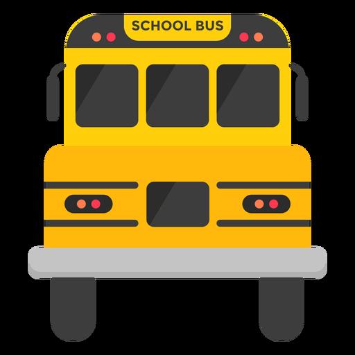 Ilustração de frente de ônibus escolar Transparent PNG
