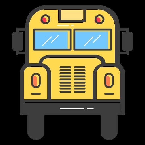 Opinião dianteira do ônibus escolar colorida Transparent PNG