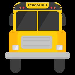 Ilustração de vista frontal de ônibus escolar