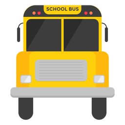 Vorderansichtillustration des Schulbusses