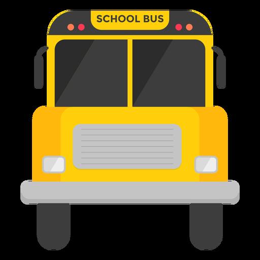 Ilustração de vista frontal de ônibus escolar Transparent PNG