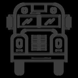 Vista frontal del autobús escolar