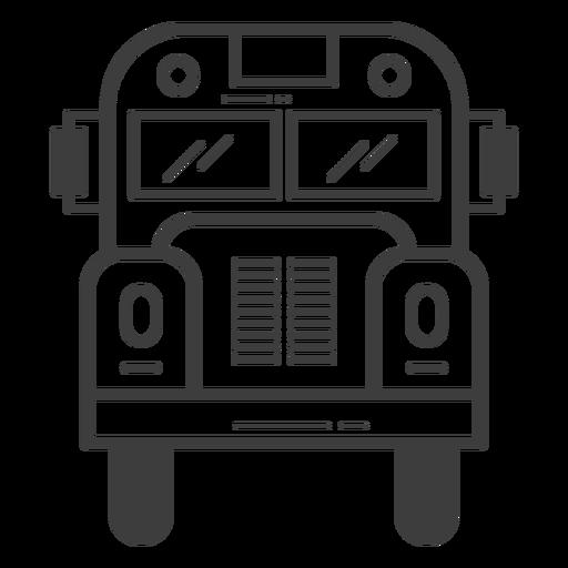 Curso de vista frontal do ônibus escolar Transparent PNG