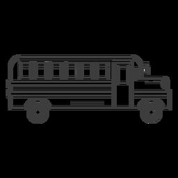 Icono de trazo de autobús escolar