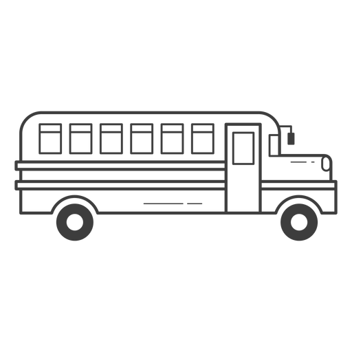 School bus stroke icon Transparent PNG