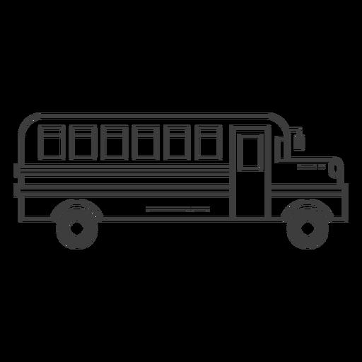 School bus stroke icon