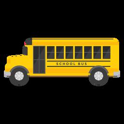 Ilustração de veículo de ônibus escolar
