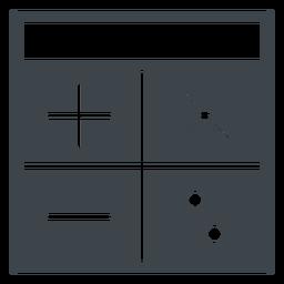 Ícone plana de calculadora de escola