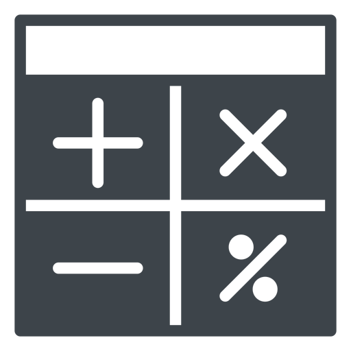 School calculator flat icon Transparent PNG