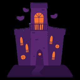 Ilustración de castillo espeluznante