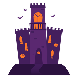 Spooky castle illustration