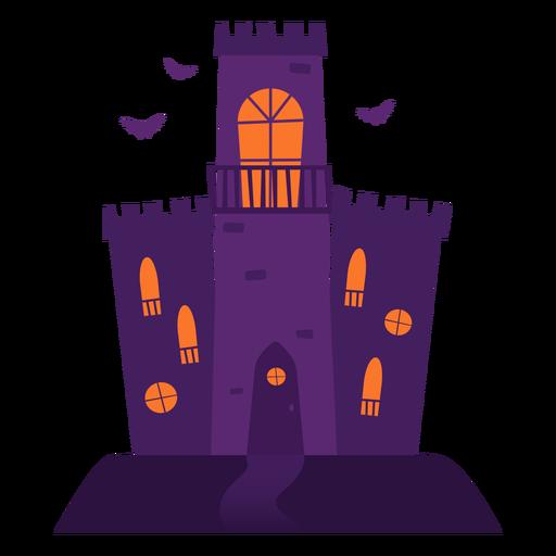 Ilustração do castelo assustador Transparent PNG