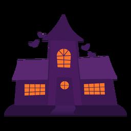 Ilustração de ghosthouse assustador
