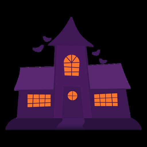Ilustraci?n espeluznante de la casa fantasma